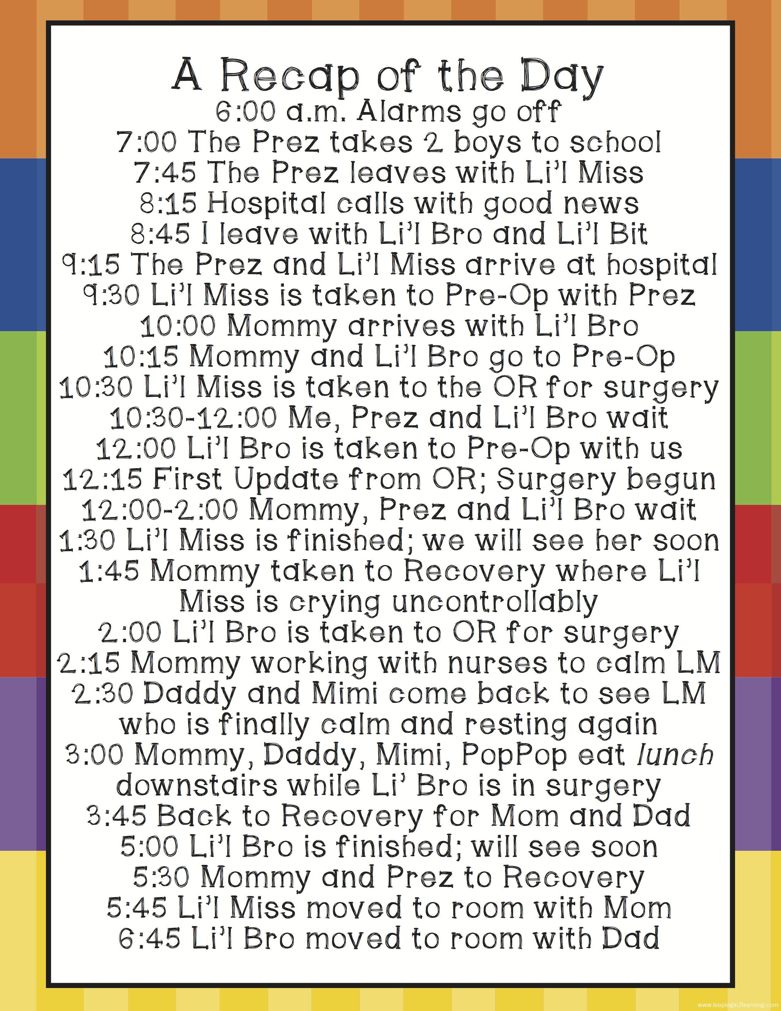 SurgerySchedule